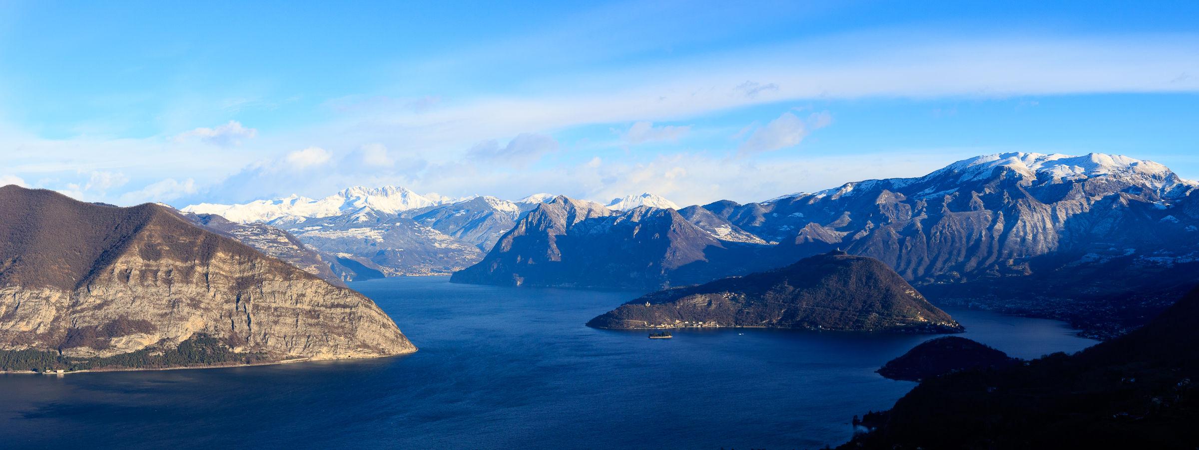 Panoramica del Lago d'Iseo...