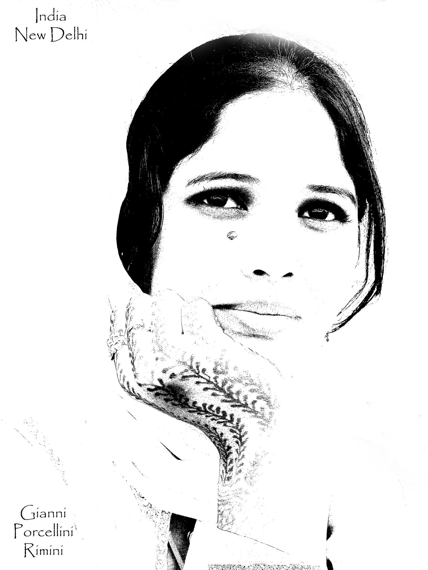 Giovane sposa indiana....