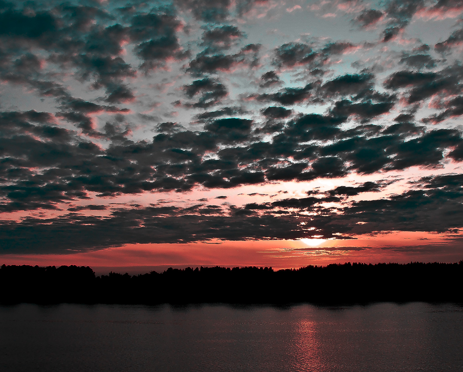 sunset on the Volga river in Moscow...