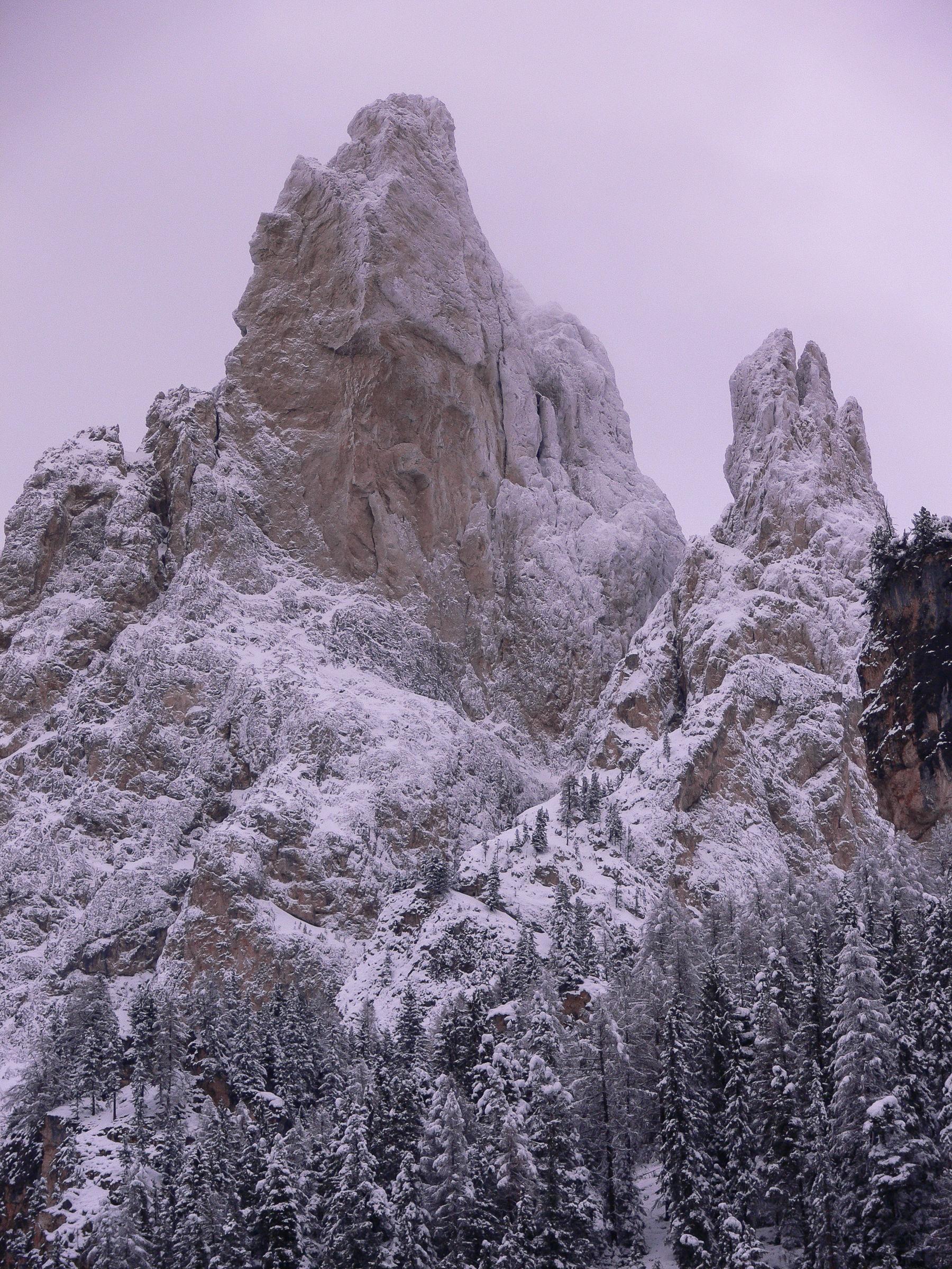 Whitewashed towers...