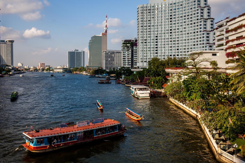 Chaopraya river. Bangkok...