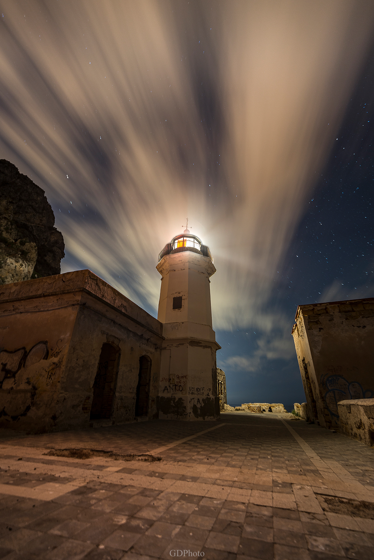 The lighthouse in the night...