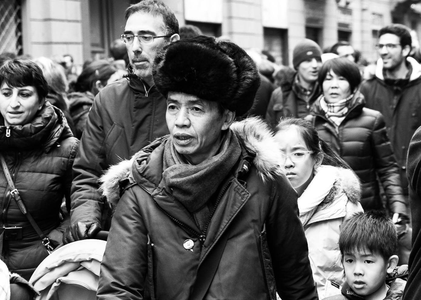 chinese new year milan ... people...