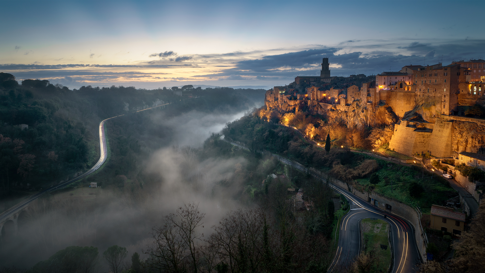 My vision of Pitigliano at sunset ......