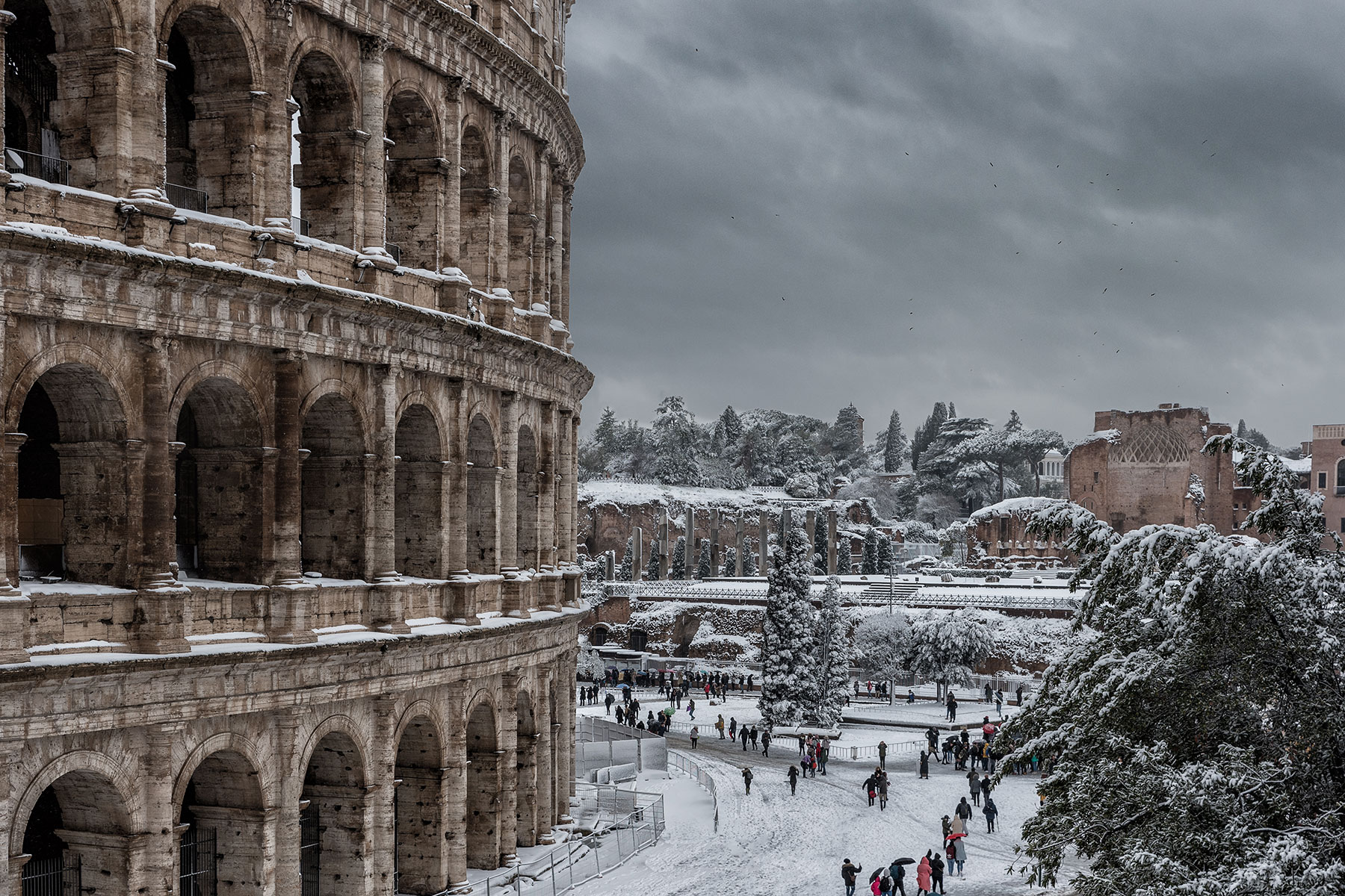 Whitewashed Colosseum...