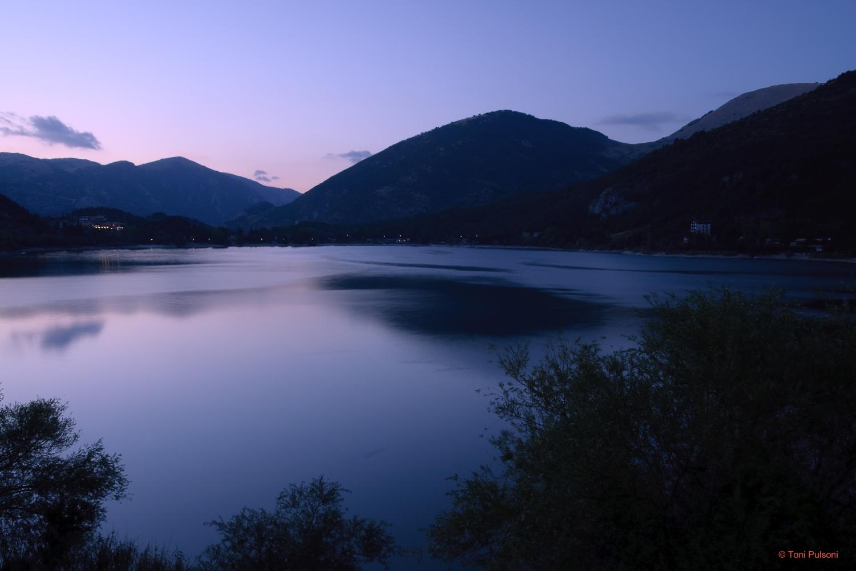 Lake Scanno at sunset...