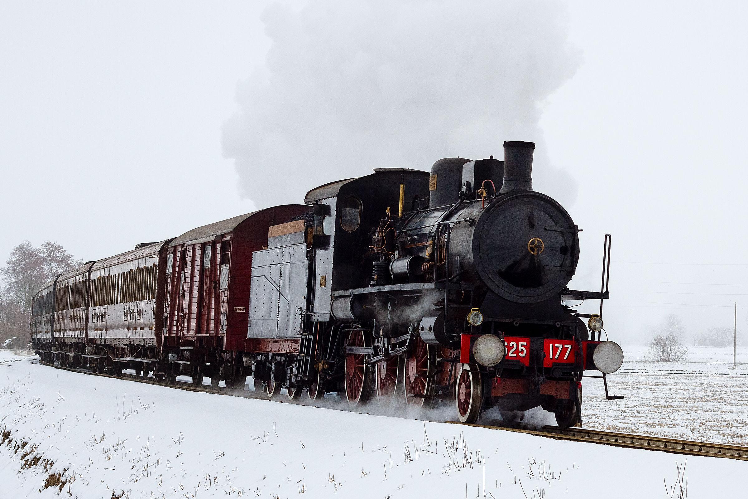 Historic train Milan Alessandria...