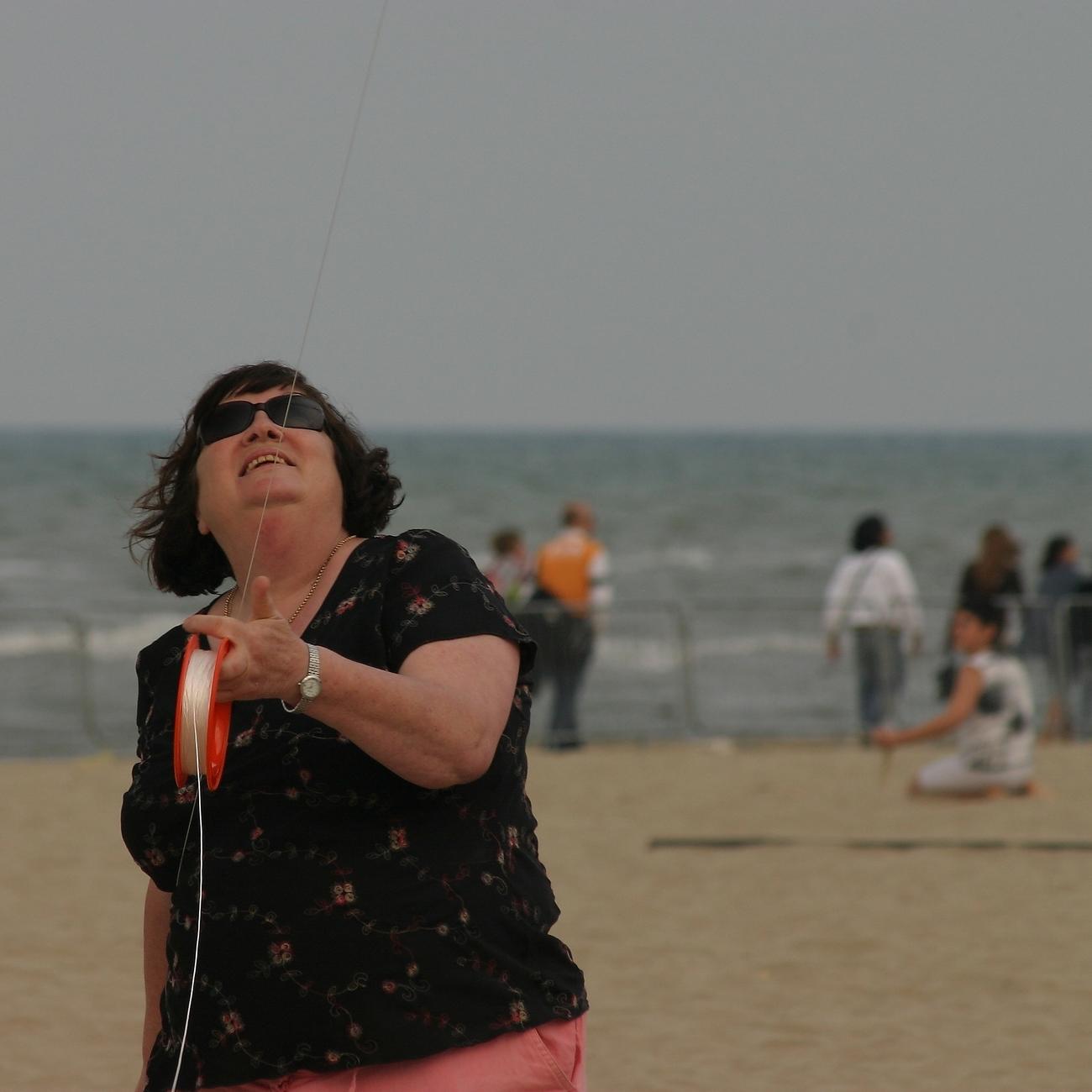 Giorgina and the kite...