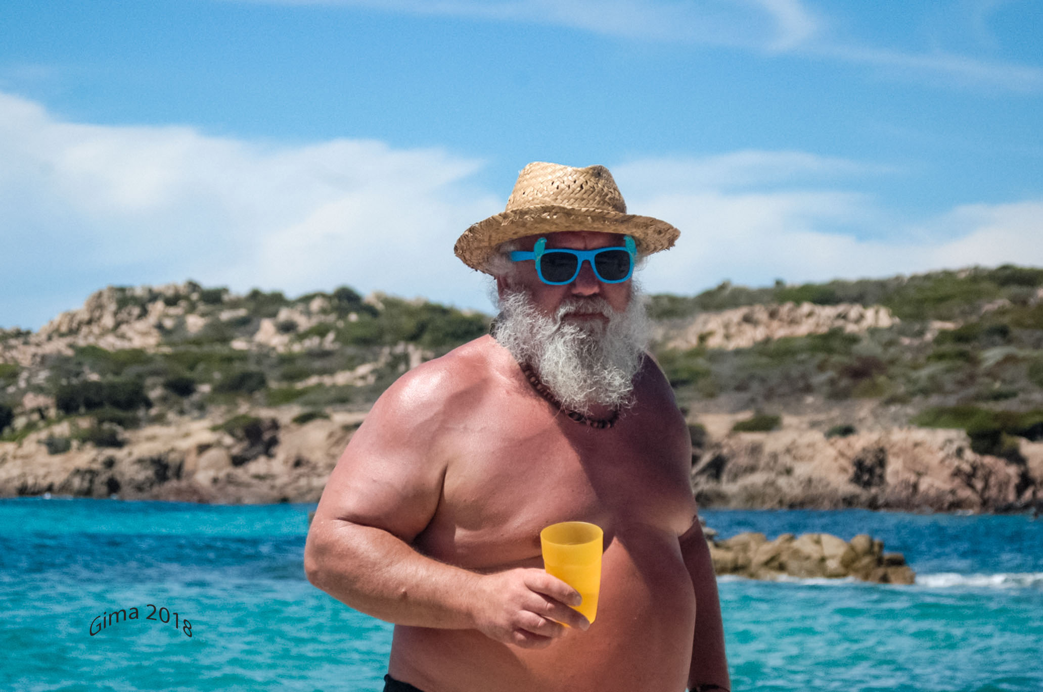 Santa Claus is also on holiday...