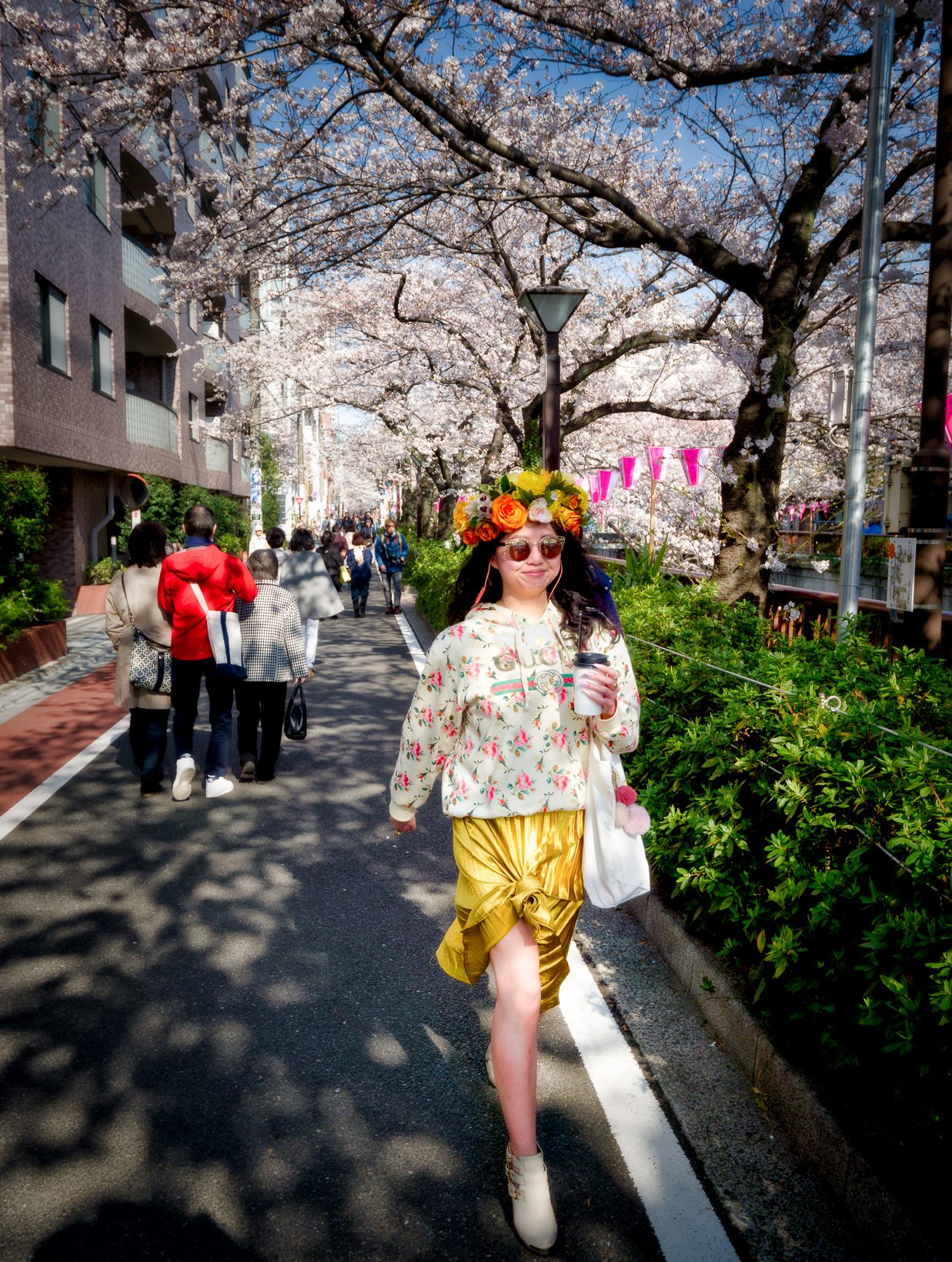 Tokyo Cherry trees in bloom ... and strange people :-)...