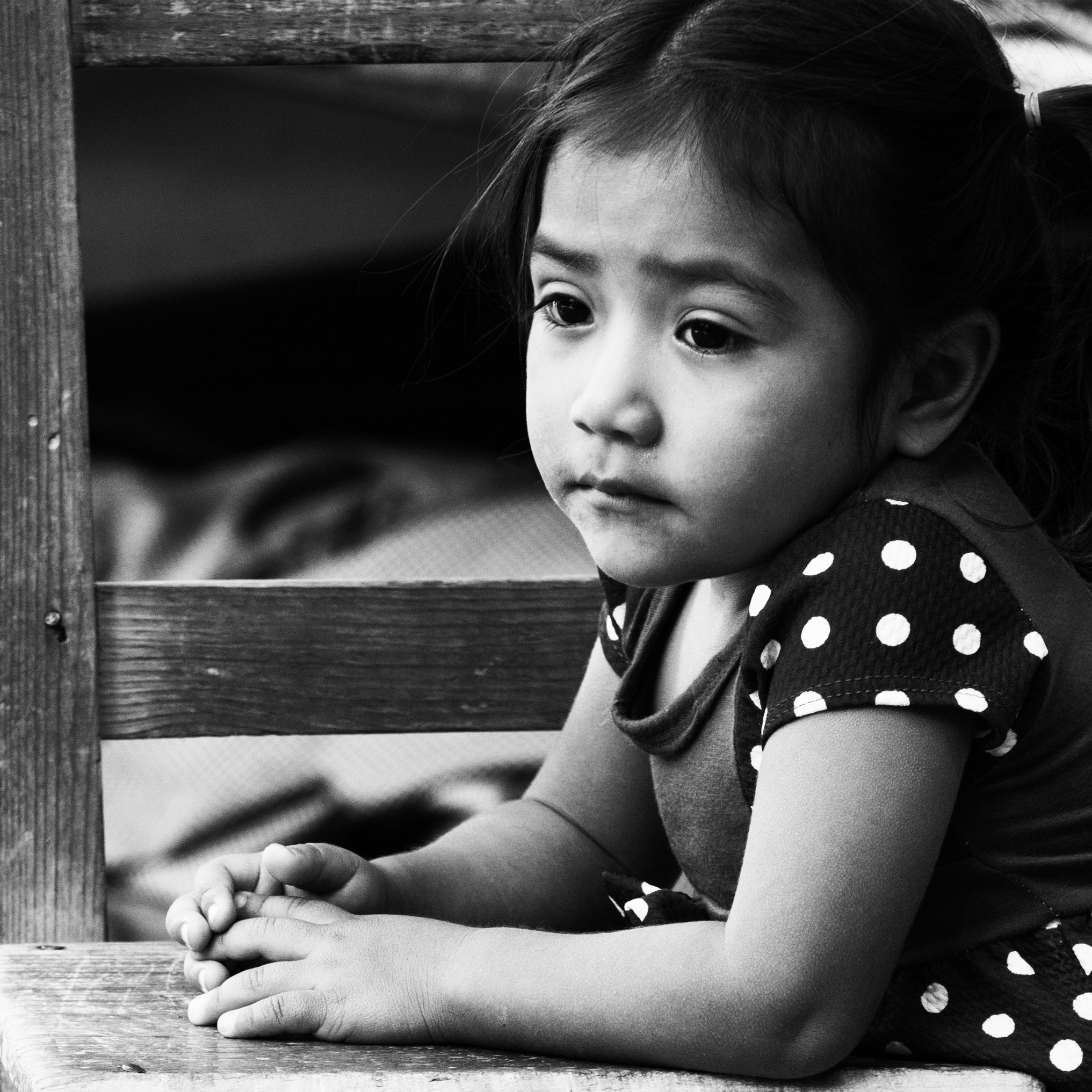 The thoughtful little girl...