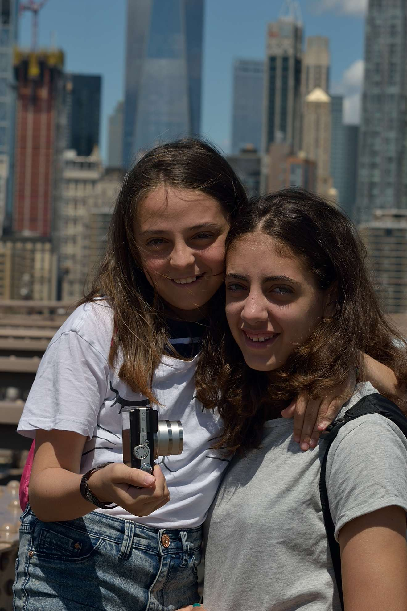 Francesca and Eleanor in New York...