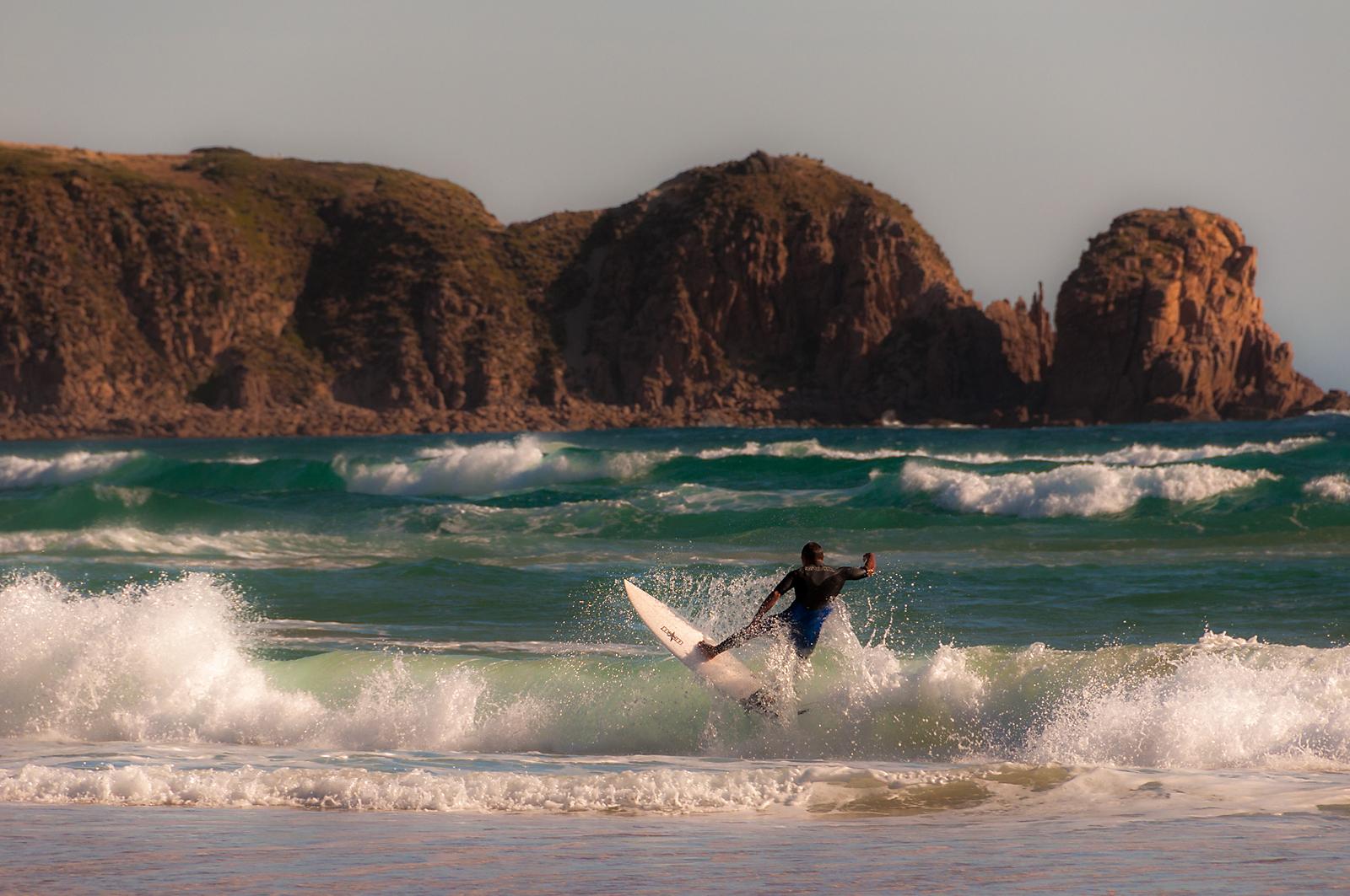 Surfing @Cape Woolamai...
