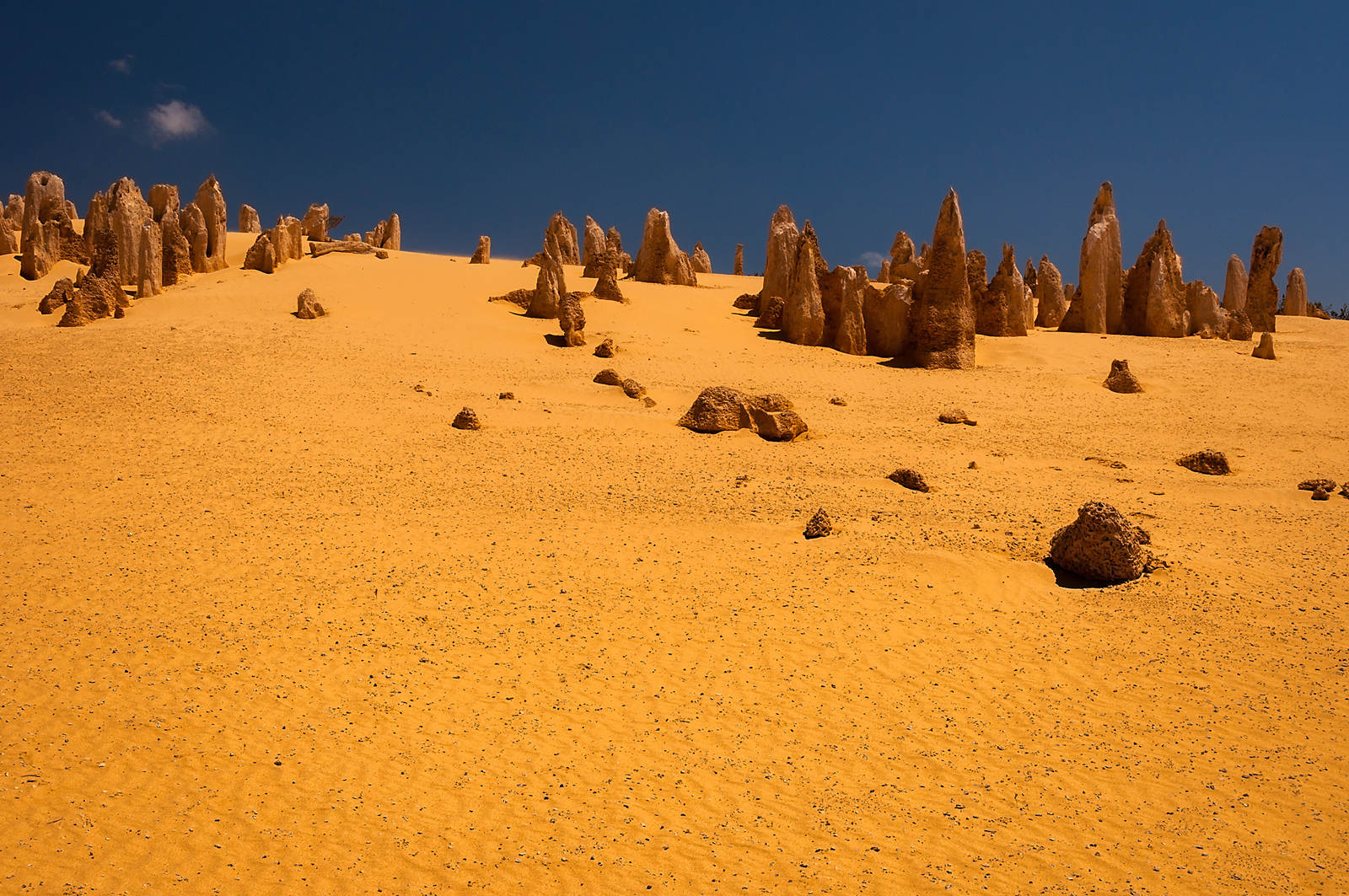 The pinnacles desert...