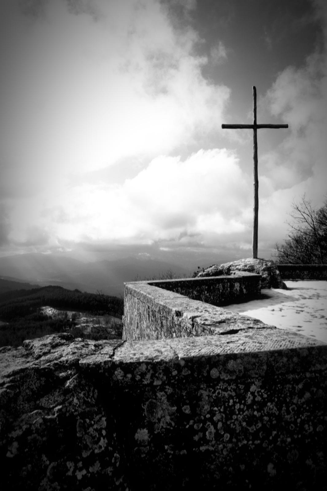 Via della croce in bn...
