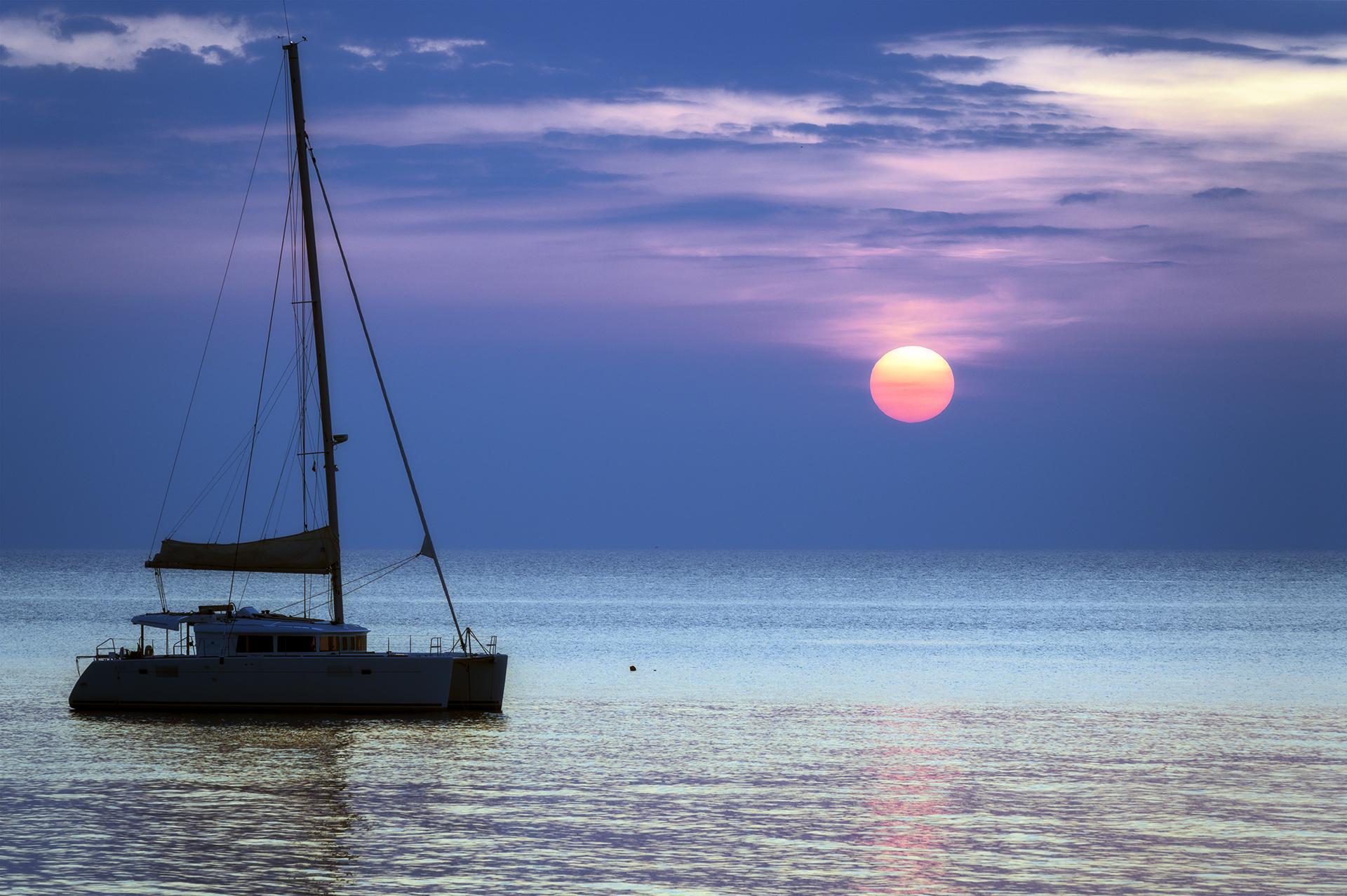 A sunset ......