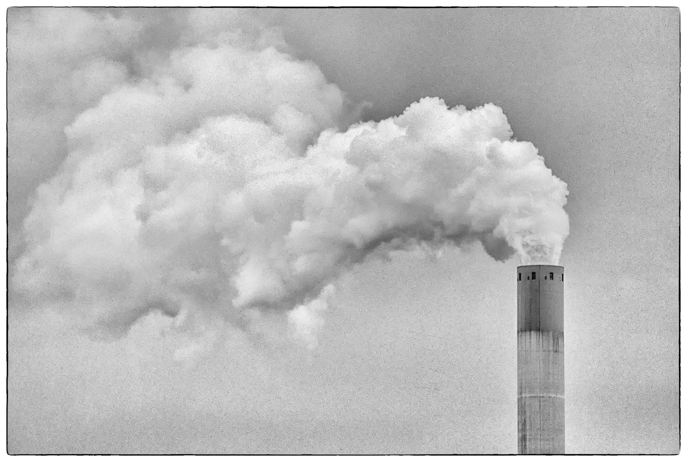 Old smoking chimney...
