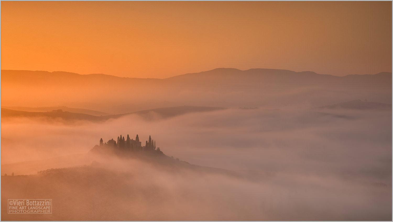 Misty Sunrise at the Belvedere Farm...