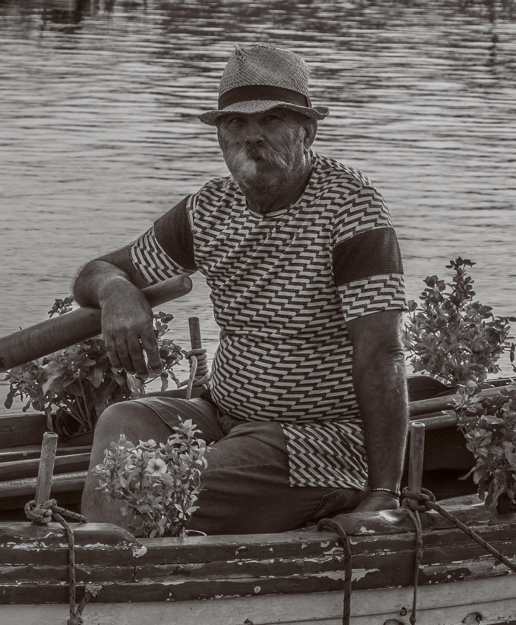 The boatman...