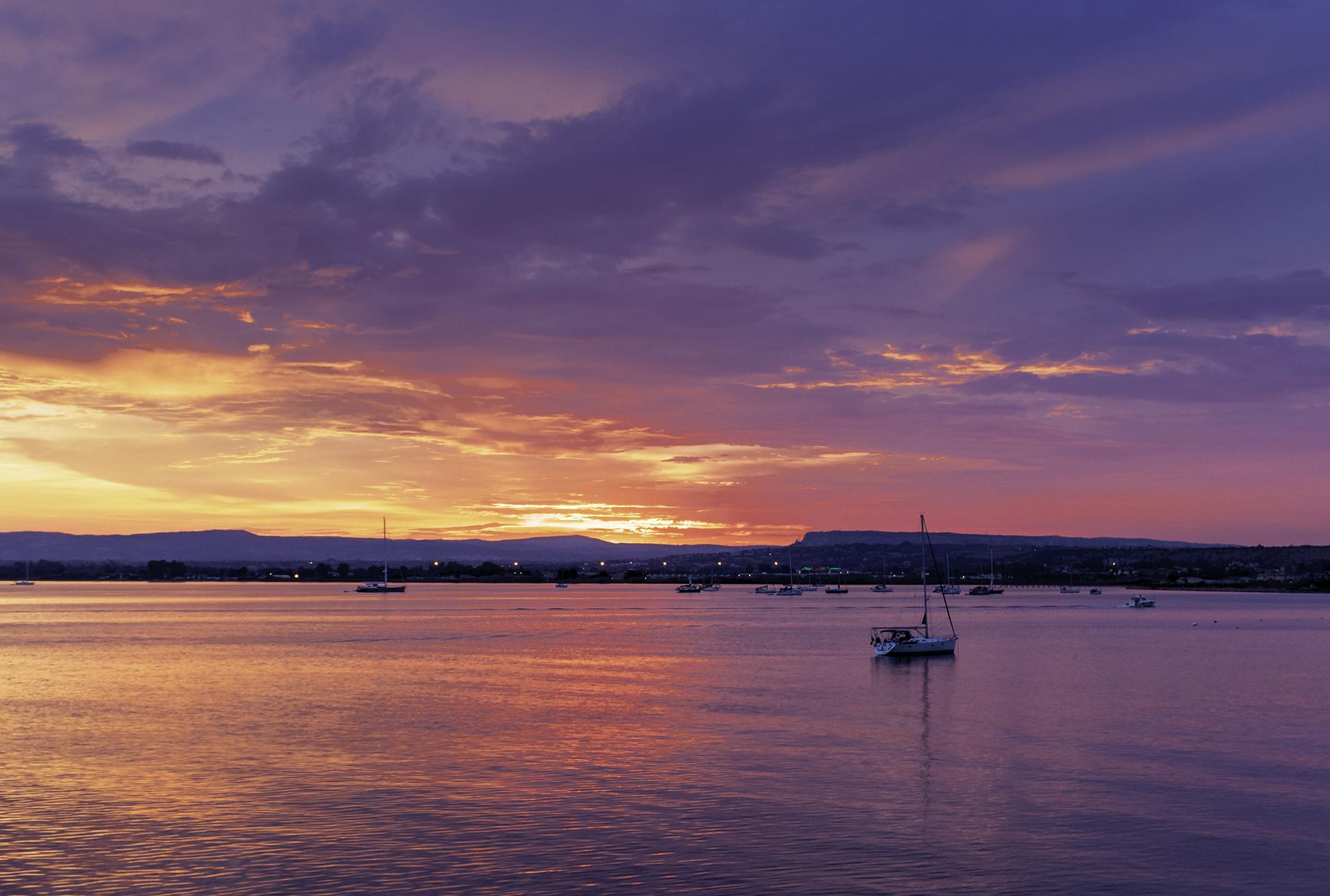 Sunset from Ortigia (SR)...