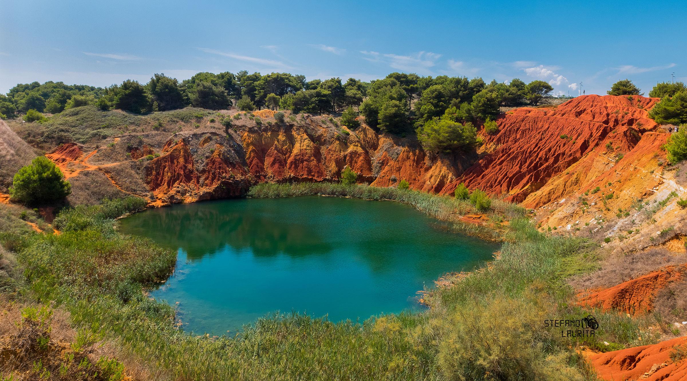 Former Quarry pond of bauxite...