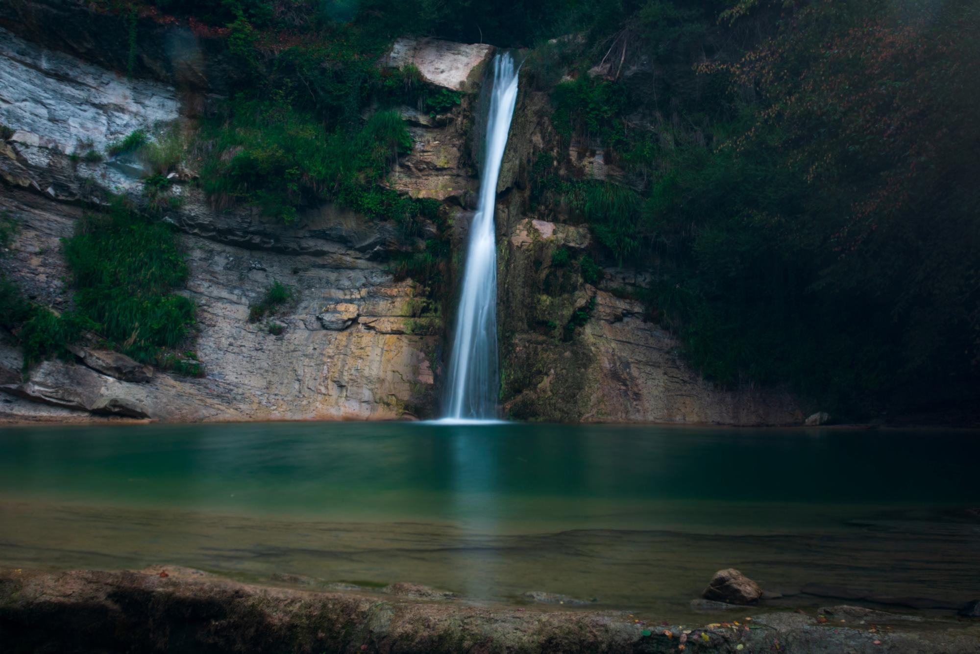The waterfall ...