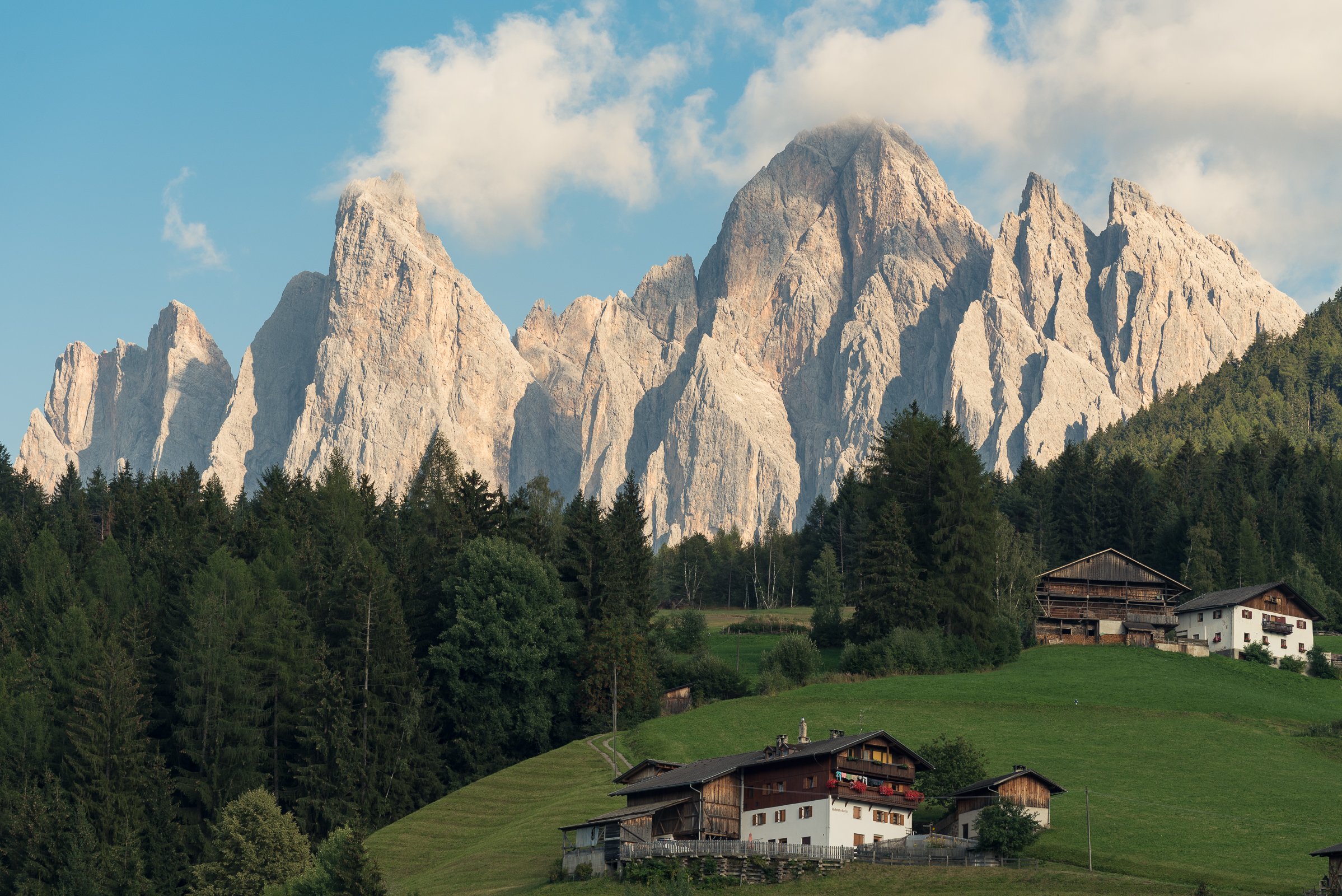 Odle from the Val di Funes, a classic...