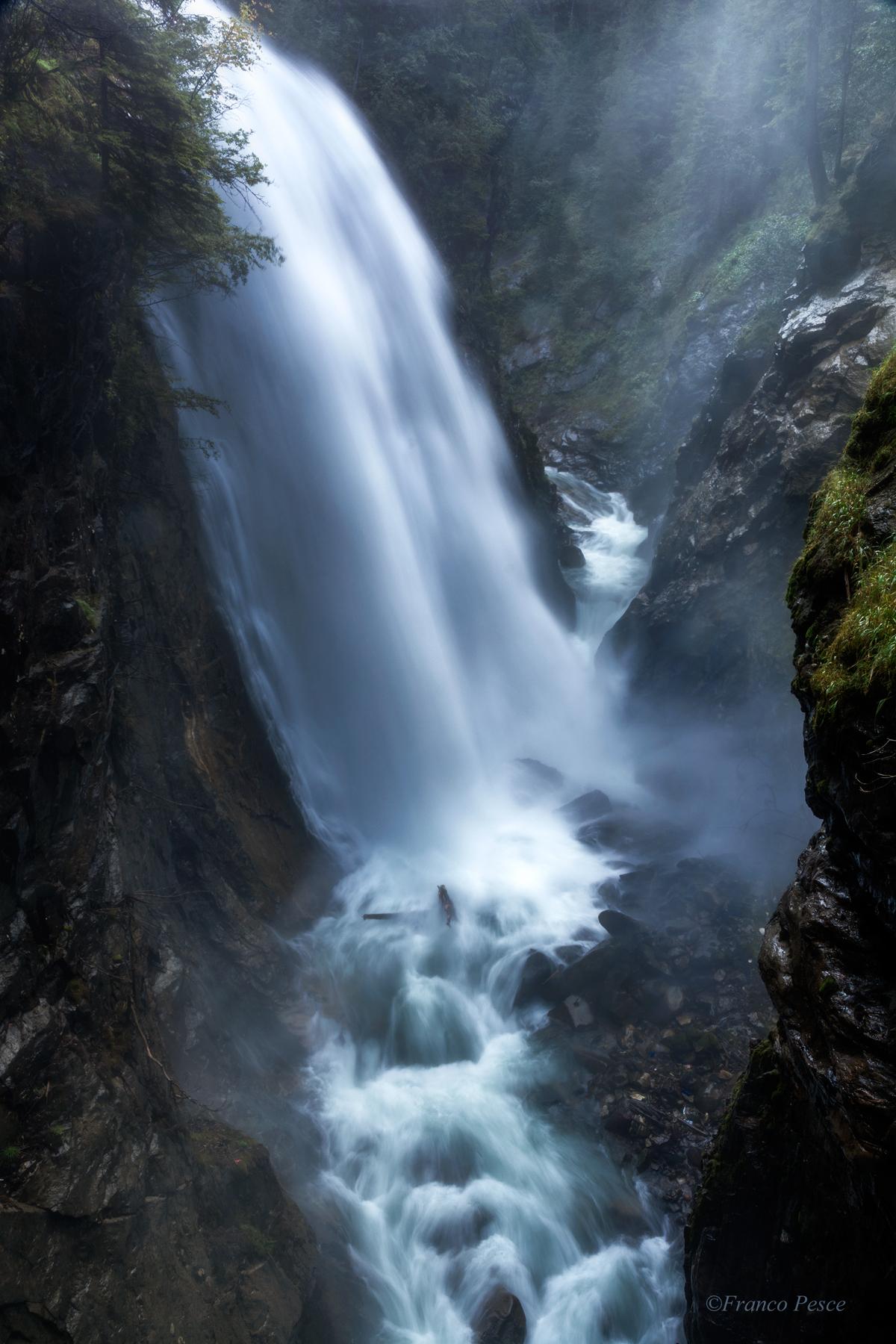 Reinbach-Wasserfälle Cascata di Riva Dolomiti...