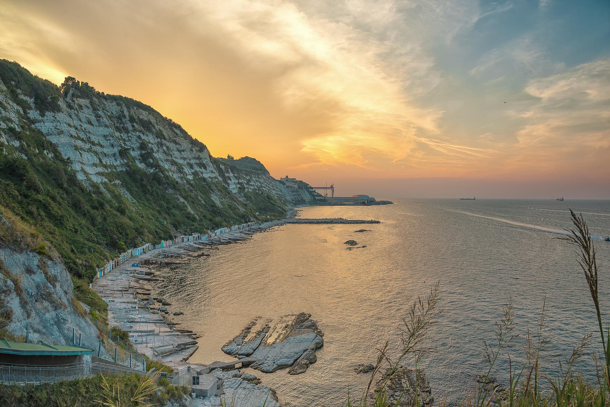 Tramonto dalla Grotta Azzurra Passetto Ancona...
