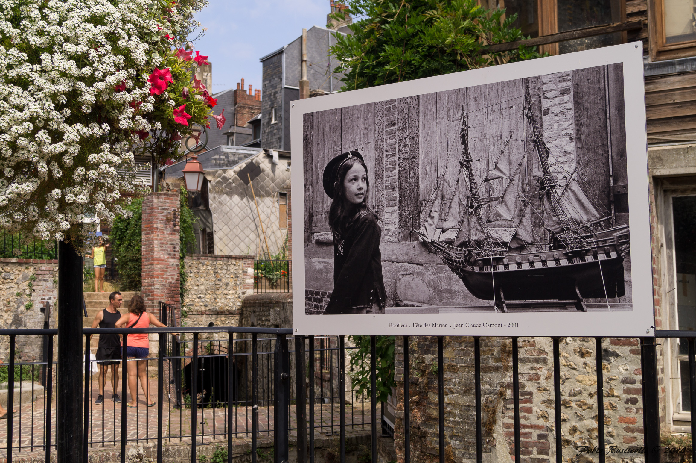 Honfleur, garden with photographic exhibition...